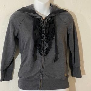 Juicy Couture ruffle front hoodie
